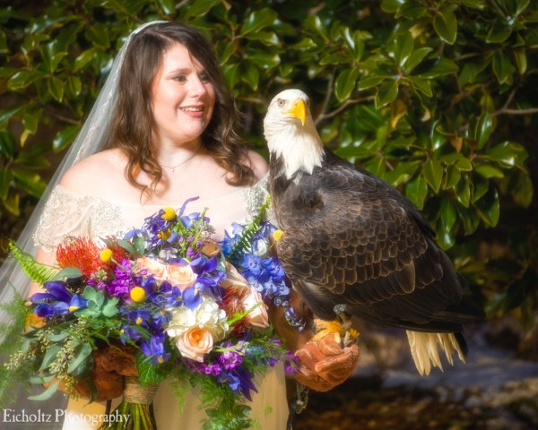 Bride with Eagle